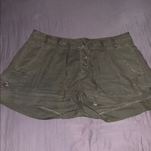 Free People Olive green military shorts